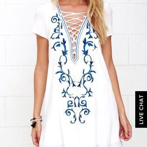 Women's White Lulus Dress